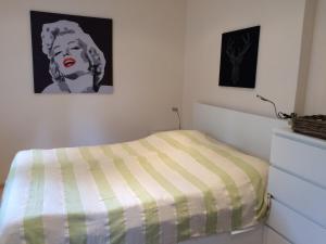 Ein Bett oder Betten in einem Zimmer der Unterkunft Apartment im Nonntal