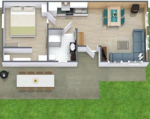 The floor plan of Eisenberg Chalet