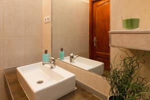 A bathroom at Trendy Apartment by the Danube