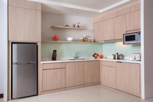 Dapur atau dapur kecil di Citadines Rasuna Jakarta