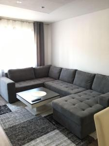 A seating area at Augsburger Apartment