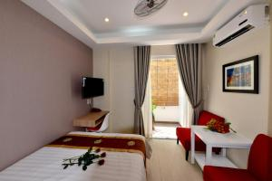 A television and/or entertainment center at Saigon South Serviced Apartments