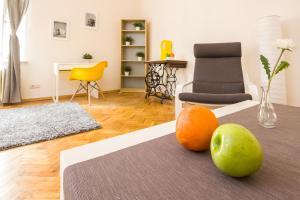 Część wypoczynkowa w obiekcie Kazimierz Jewish District Apartament