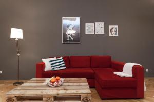 A seating area at Zuzana Apartment