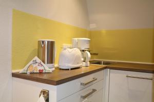 Küche/Küchenzeile in der Unterkunft Fewo Friedrichsruh