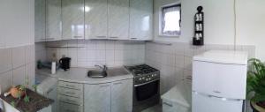 A kitchen or kitchenette at Ivanka Apartment