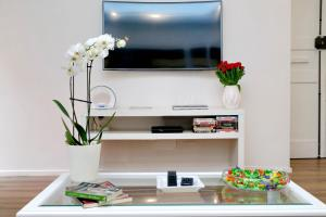 A television and/or entertainment center at Piramide Contemporary Apartment