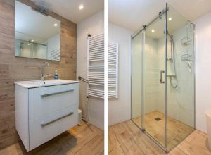 Een badkamer bij Happy Home