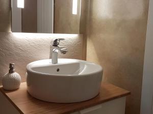Ein Badezimmer in der Unterkunft Panoramablick