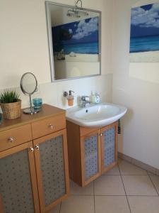 Ein Badezimmer in der Unterkunft Ferienwohnung Obersulm