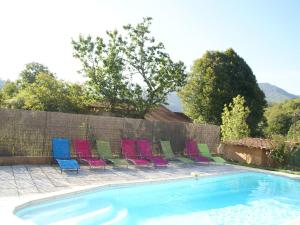 The swimming pool at or near Luxurious Villa in Thueyts with Private Pool