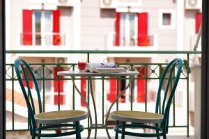 A balcony or terrace at Aella Studios