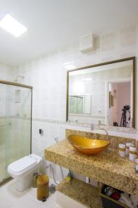 A bathroom at Novo - No Coração De Copacabana