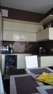 A kitchen or kitchenette at Apartament Kolobrzeg