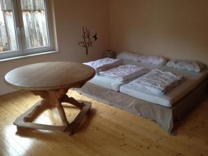 Ein Bett oder Betten in einem Zimmer der Unterkunft Häuschen im Fichtelgebirge