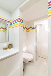 A bathroom at TLV Bauhaus