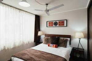 Cama o camas de una habitación en Metro Ecuador 2B1B