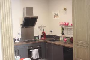 Cuisine ou kitchenette dans l'établissement le bal d'arsène