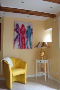 Ein Sitzbereich in der Unterkunft Apartment Nuske