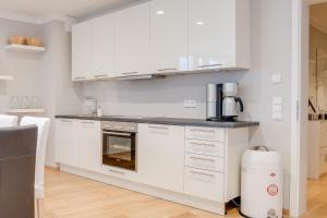 Una cocina o zona de cocina en Schone Wohnung am Dresdner Zwinger