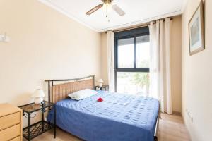 Postel nebo postele na pokoji v ubytování Biopark View Apartment