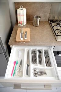 מטבח או מטבחון ב-Aurora Apartments