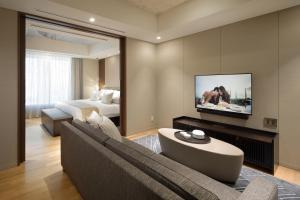 A television and/or entertainment center at Ascott Marunouchi Tokyo