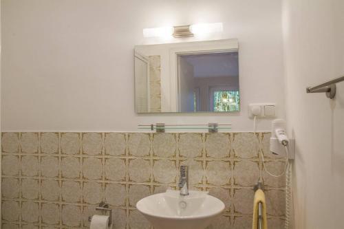 Ein Badezimmer in der Unterkunft Biohotel Spöktal