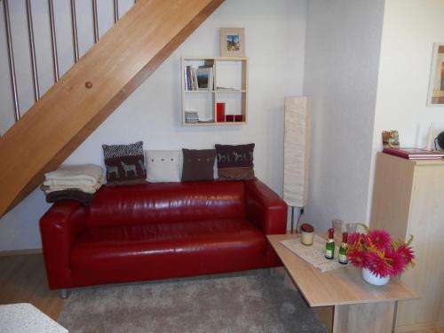 Ein Sitzbereich in der Unterkunft Rothers Ferienwohnung