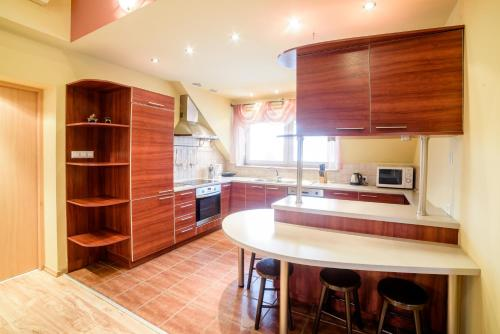 A kitchen or kitchenette at Park Apartment