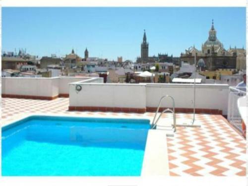 The swimming pool at or near Anjara Apartments