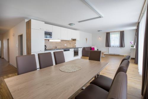 A kitchen or kitchenette at Aparthotel Pichler