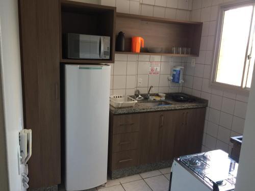 A kitchen or kitchenette at Apartamento Ecologic Park Caldas Novas