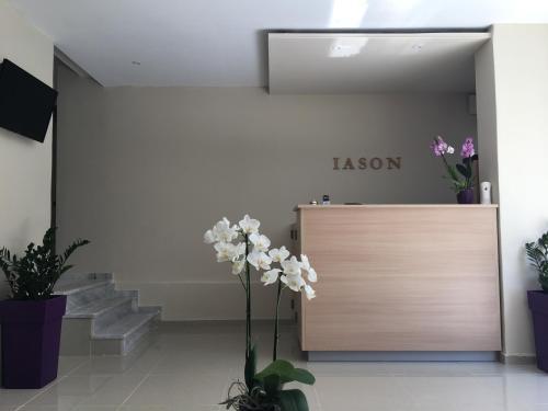 Ο χώρος του λόμπι ή της ρεσεψιόν στο Iason Apartments
