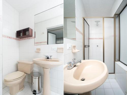 A bathroom at Casa Bogotana