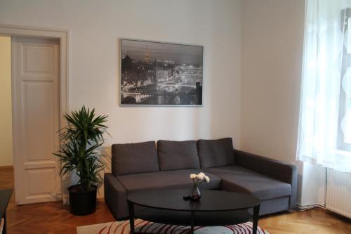 Ein Sitzbereich in der Unterkunft Murtal Apartments