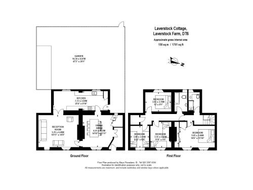The floor plan of Laverstock Cottage