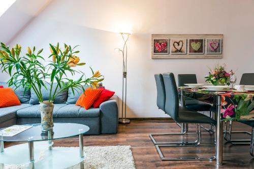 Posezení v ubytování Galeria Italiana Apartments
