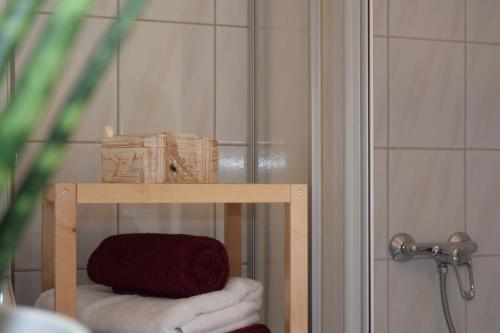 Ein Badezimmer in der Unterkunft Ferienapartments Urlaub und Meer