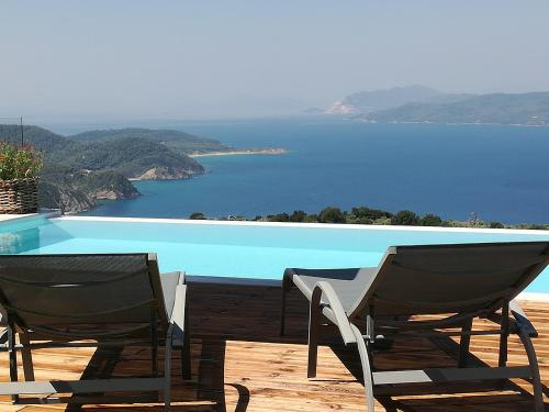 The swimming pool at or near Luxury Villa in Kechria 2