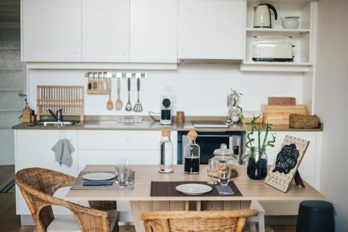 A kitchen or kitchenette at Wood Loft