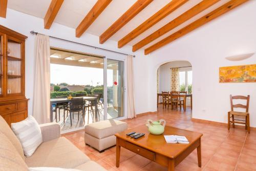 A seating area at Villas Menorca Sur