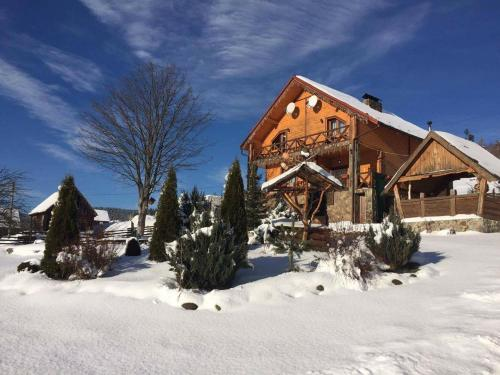 Villa DOR Bukovel during the winter