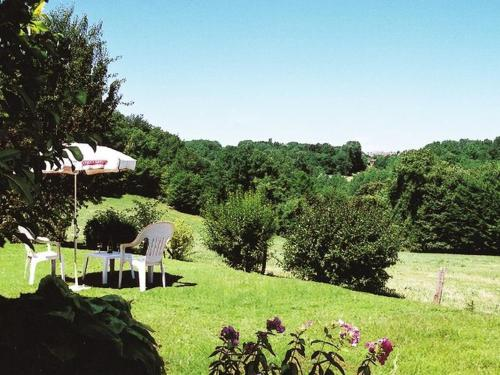 A garden outside Beautiful Holiday Home in Salignac-Eyvigues amid Nature