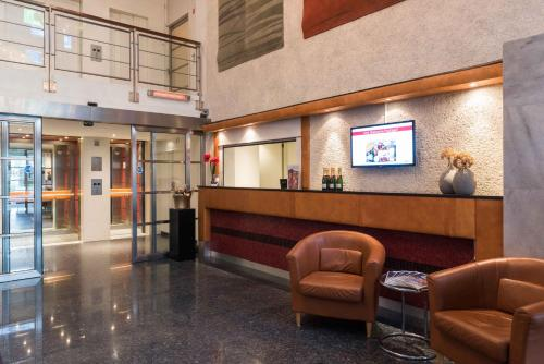 The lobby or reception area at Htel Serviced Apartments Amsterdam