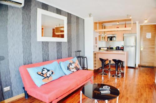 Zona de estar de Apartamentos Premium Capital Lyon Costanera