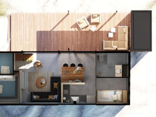The floor plan of Sea Lodge Ameland 5