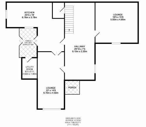 The floor plan of Baronial Style Luxury House