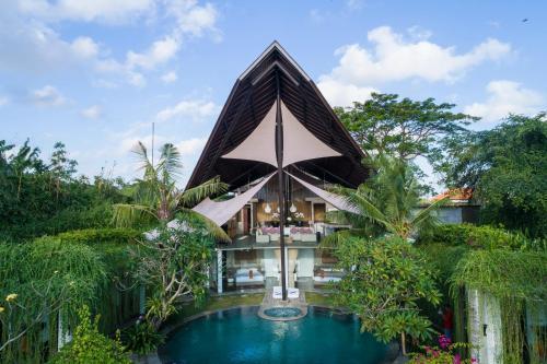 The swimming pool at or near Toraja Villa
