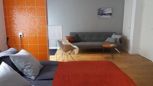 A seating area at van Berk en Hout